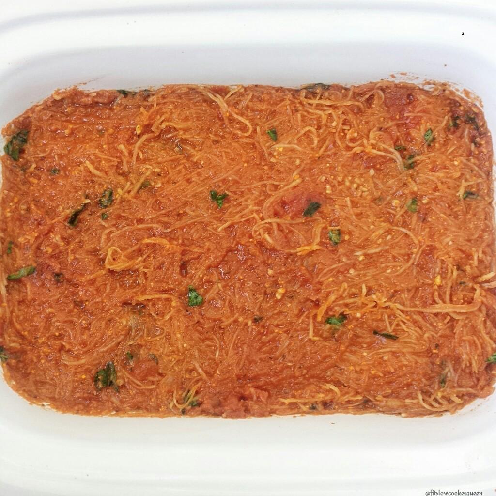 Slow Cooker Spaghetti Squash Casserole