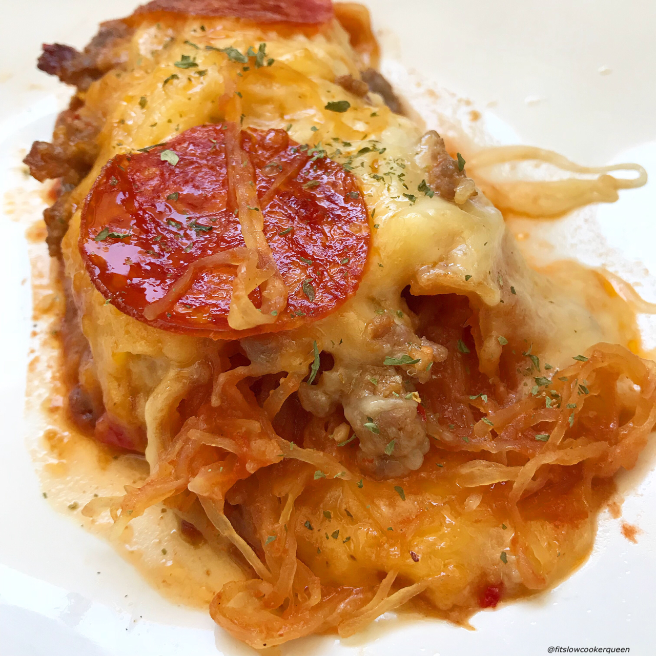There are only a few ingredients in this slowcooker spaghetti squashcasserole recipe. This healthy, low-carb alternative to spaghetticooks in just a couple of hours time.