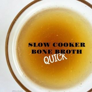 Slow Cooker Quick Bone Broth (Paleo,Whole30)