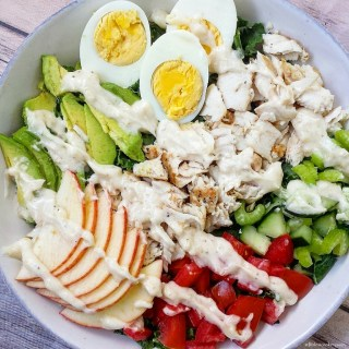 Mahi-Mahi Kale Salad w/Creamy Coconut-Ginger Dressing