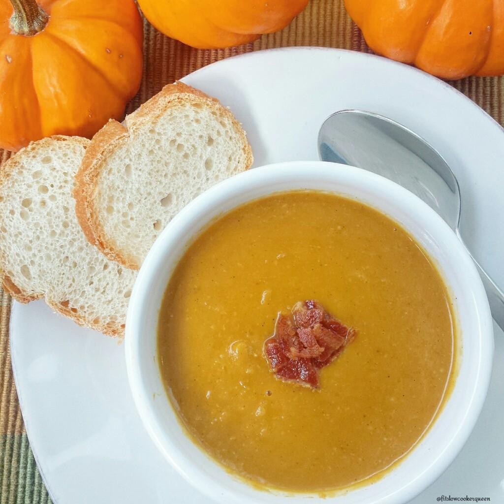 Slow Cooker Paleo Pumpkin Bisque wBacon