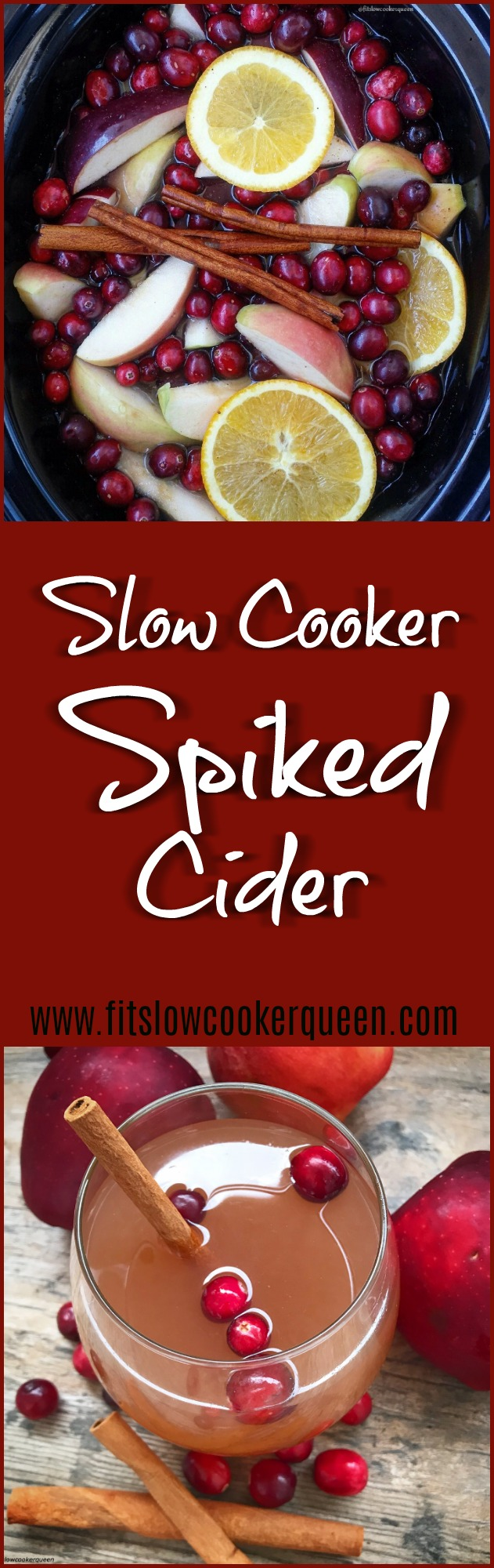 Holiday season means entertaining. This slow cooker spiked cider recipeusing all-natural fruit will have your house smelling amazing while adding a nice 'spike' to your punch.