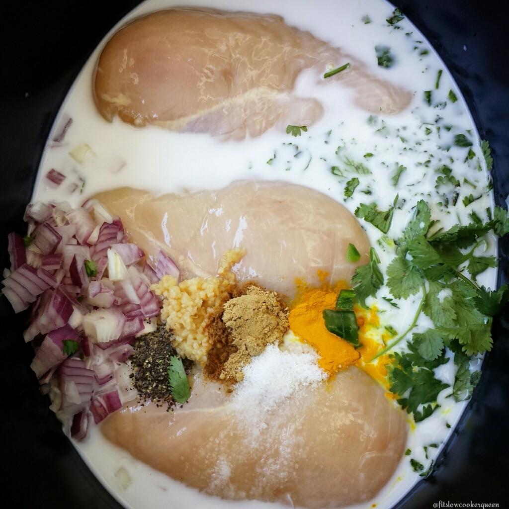 Slow Cooker Easy Thai Shredded Chicken