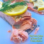 Cooking salmon in the slow cooker produces perfectly cooked salmon with minimal effort. With less than 5 ingredients, this recipe is both healthy & easy.