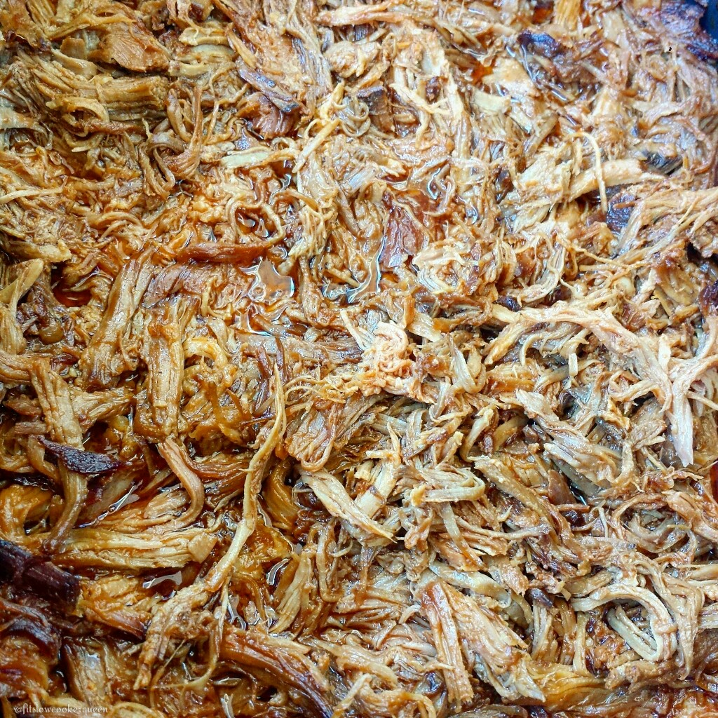 slow cooker hickory smokey bbq pulled pork shredded