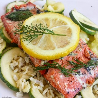 Slow Cooker Salmon with Lemon & Dill