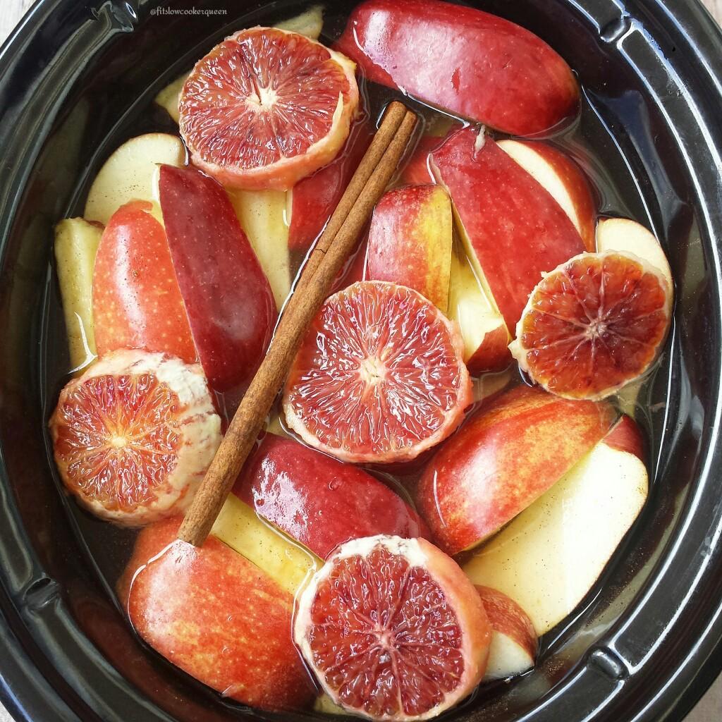 Slow Cooker Apple-Blood Orange Cider