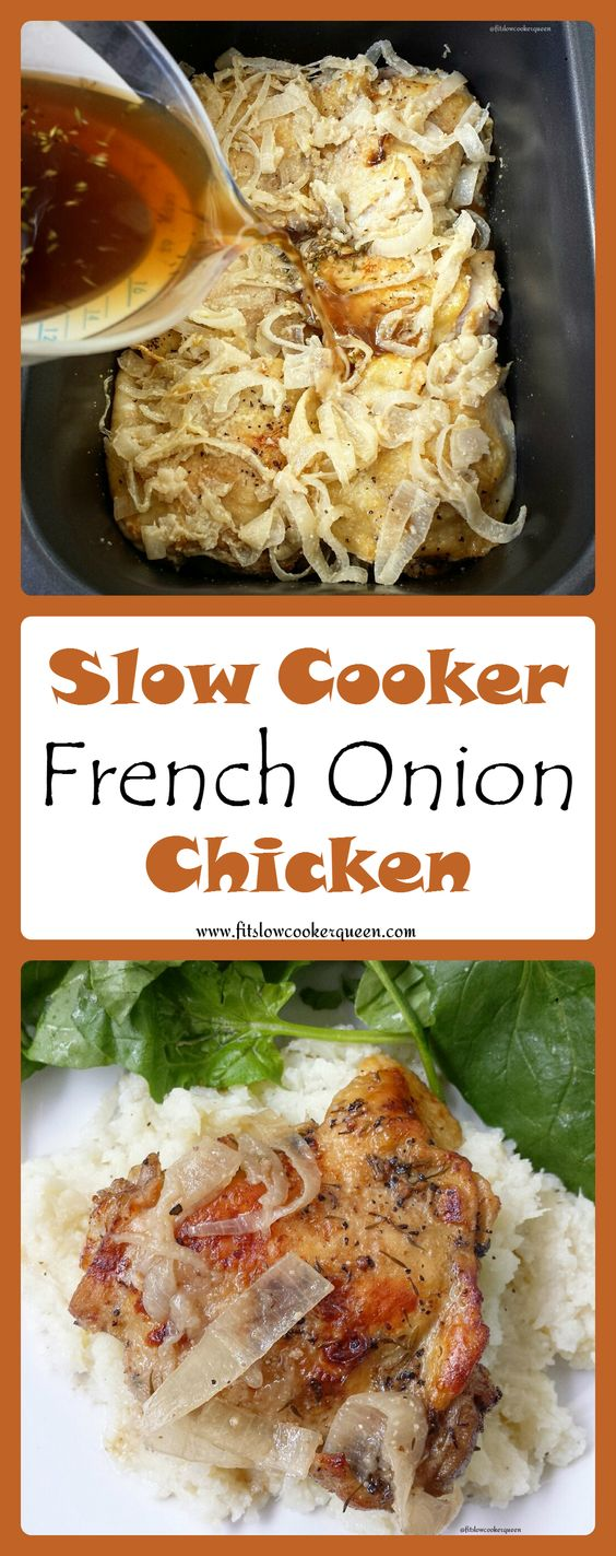 This recipe takes French onion soup flavors but without the cheese to make this slow cooker meal both paleo and whole30 compliant.
