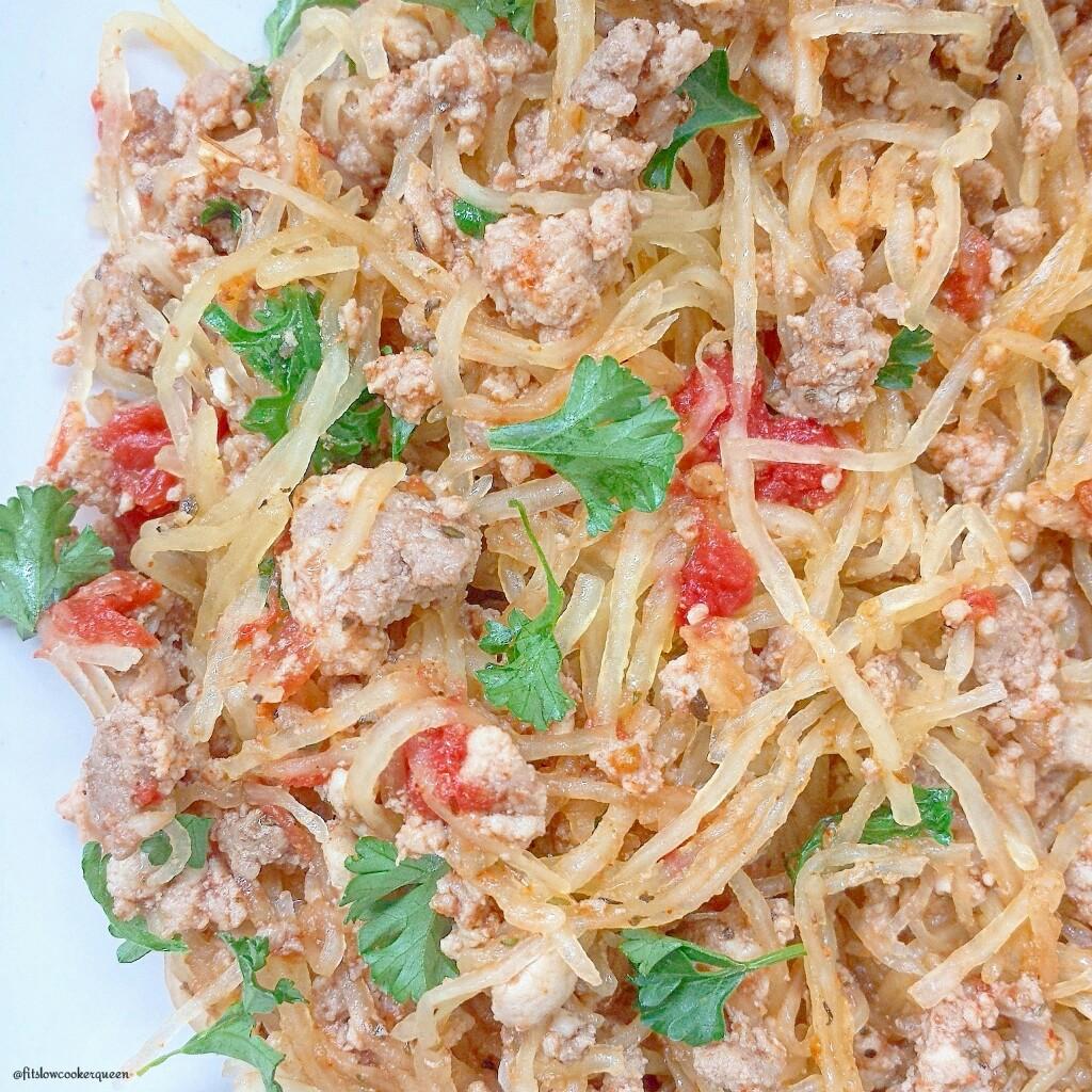 spaghetti squash meat herbs 4