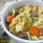 This classic beef noodle soup recipe is simple, comforting, and flavorful! Cook this beef soup in the slow cooker or Instant Pot.