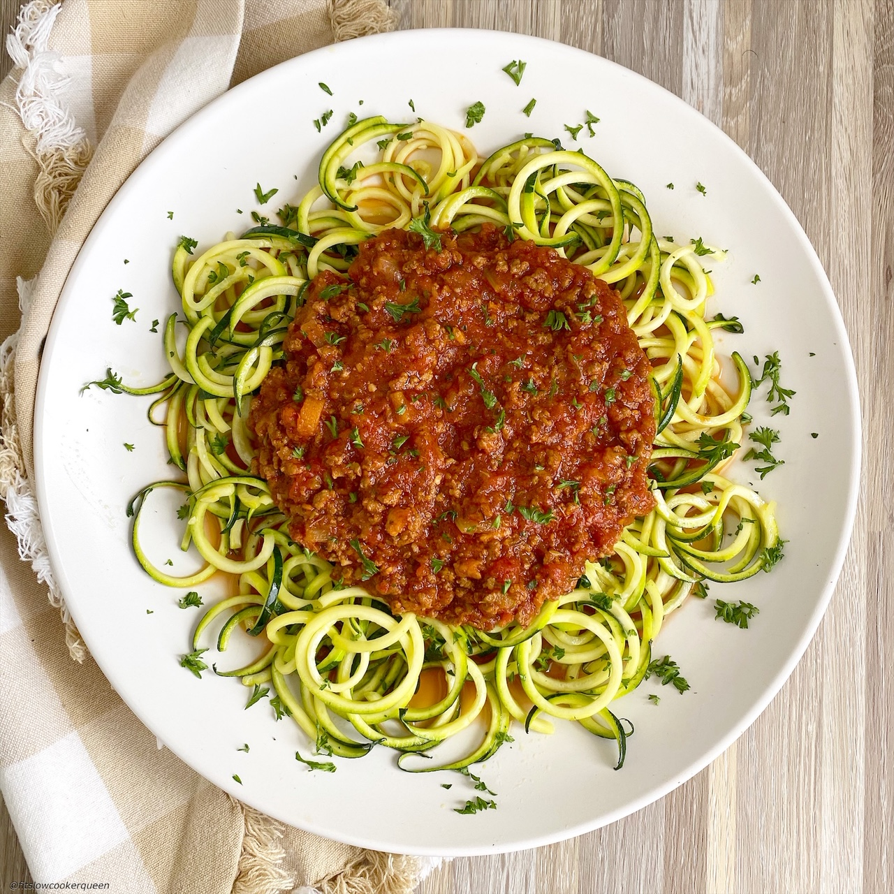 plated Slow CookerInstant Pot Bolognese (Low-Carb, Paleo, Whole30)