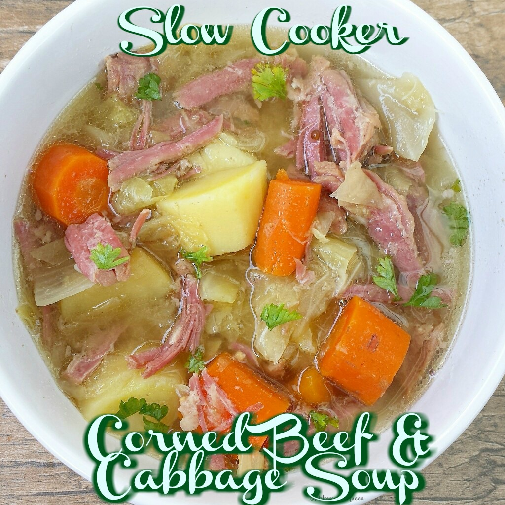This healthy version of corned beef and and cabbage soup is not only whole30 and paleo compliant but cooks in just a few hours time.