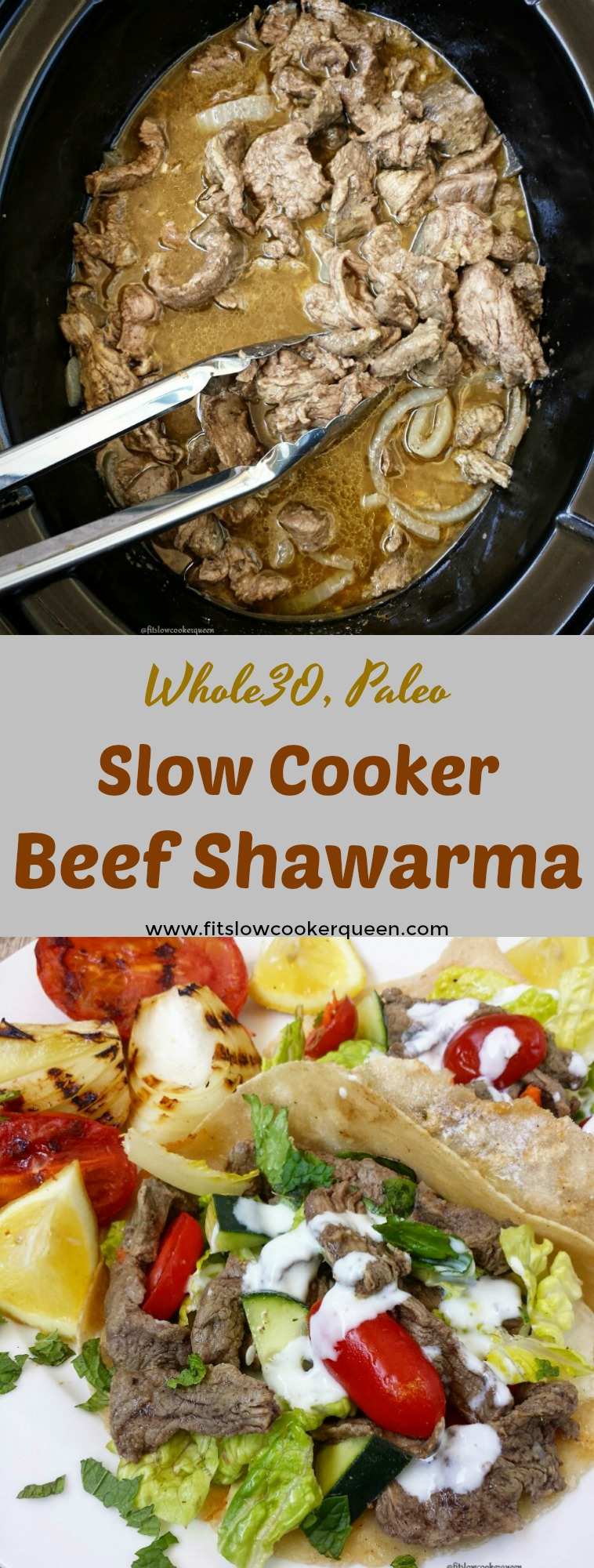 This slow cooker version of beef shawarma is easy and extremely flavorful. Using all natural ingredients, it's also healthy being both paleo and whole30.