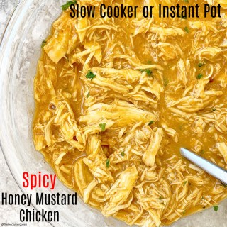 {VIDEO} 5-Ingredient Slow Cooker Spicy Honey Mustard Chicken (Paleo)