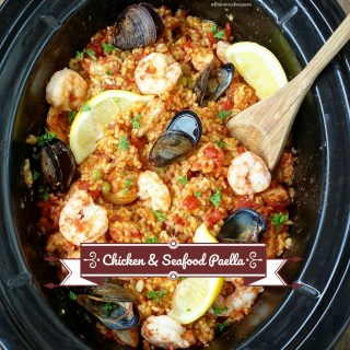 Slow Cooker Chicken & Seafood Paella