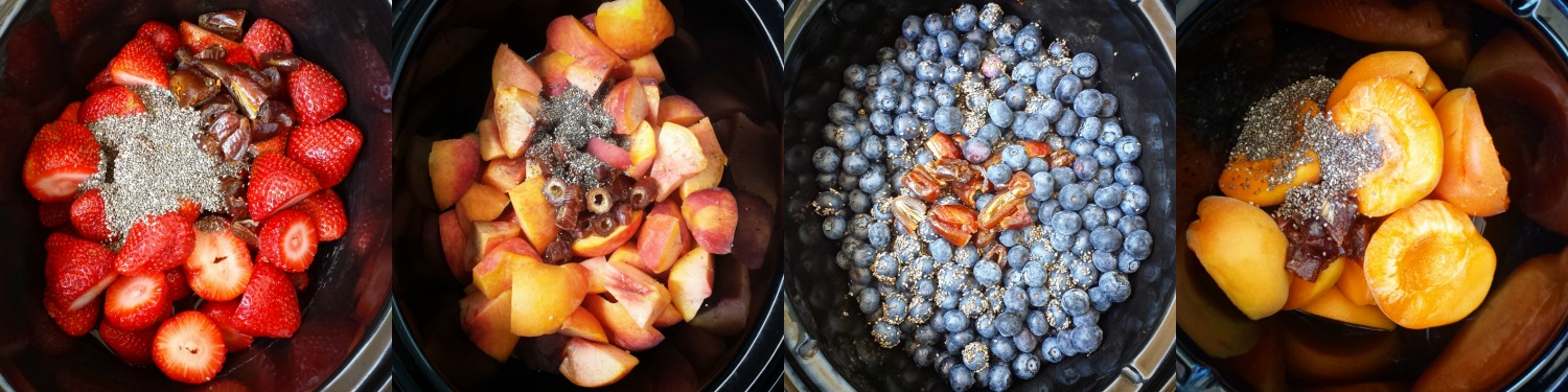 This fruit jam slow cooker recipe contains no added sugar! It's healthy being paleo and whole30 compliant and quick cooking in just a couple hours.