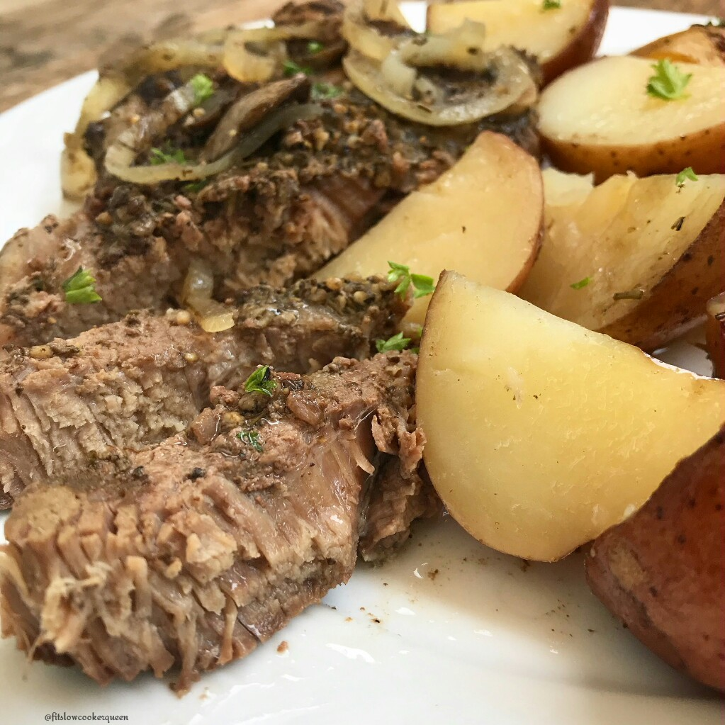 Steak & potatoes are the ultimate comfort food. But they can be healthy too! This slow cooker version produces tender meat that's both whole30 and paleo.
