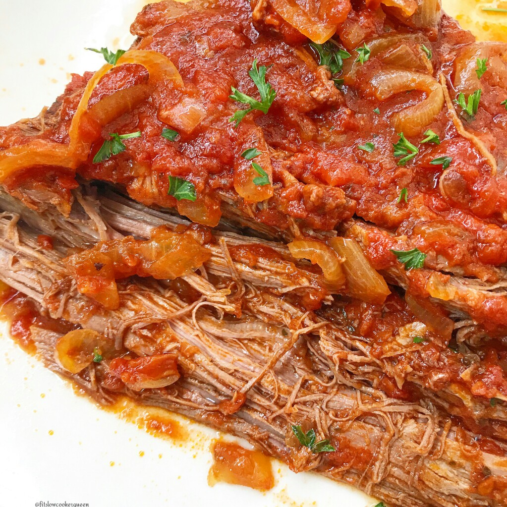 This slow cooker brisket recipe is the perfect addition to any holiday menu. Producing melt-in-your-mouth meat, it's also great for family dinner.
