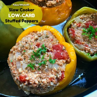 Using cauliflower rice, these slow cooker stuffed peppers are not onlylow-carb but also paleo and whole30. This recipe is not only healthy but easy too.