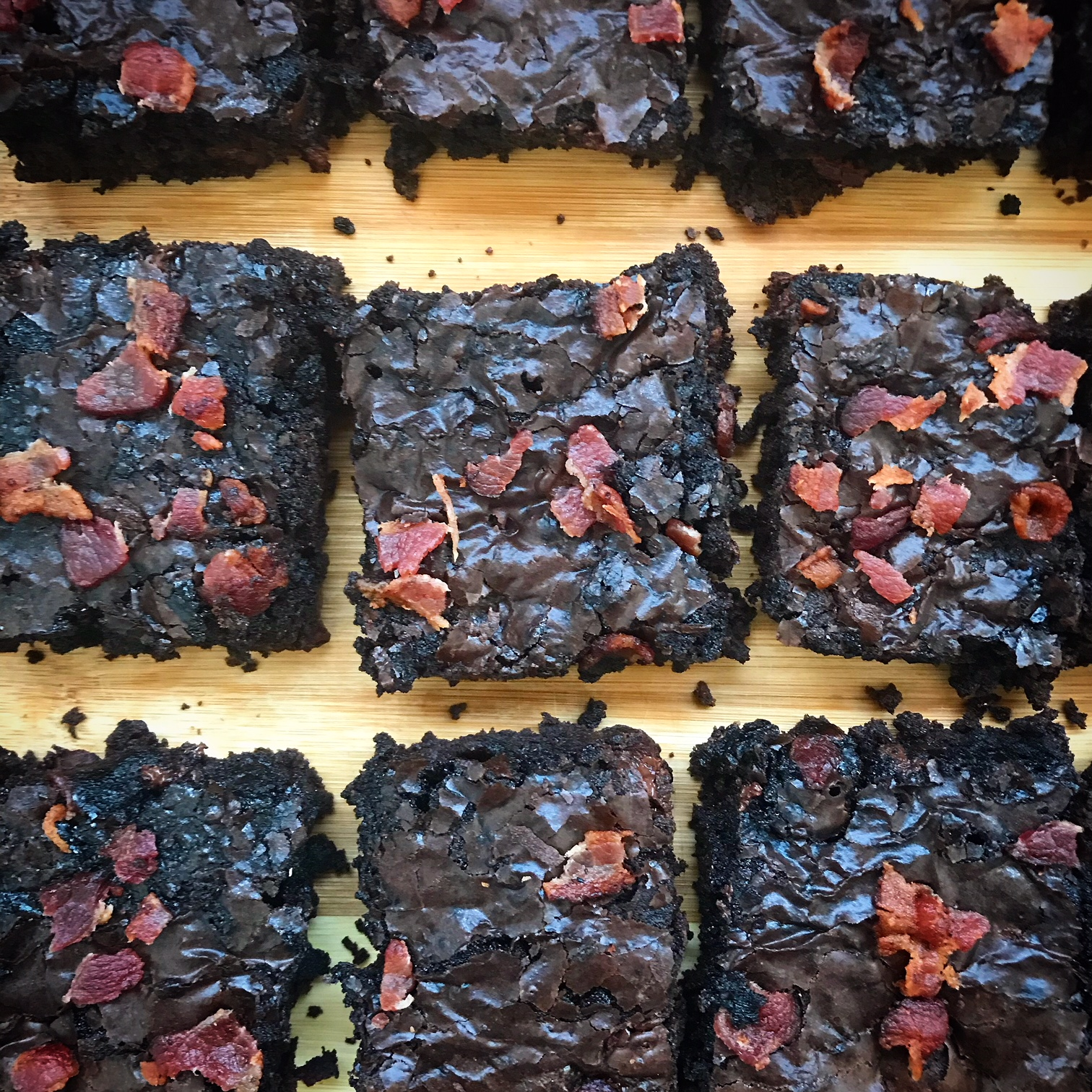 slow cooker paleo bacon brownies