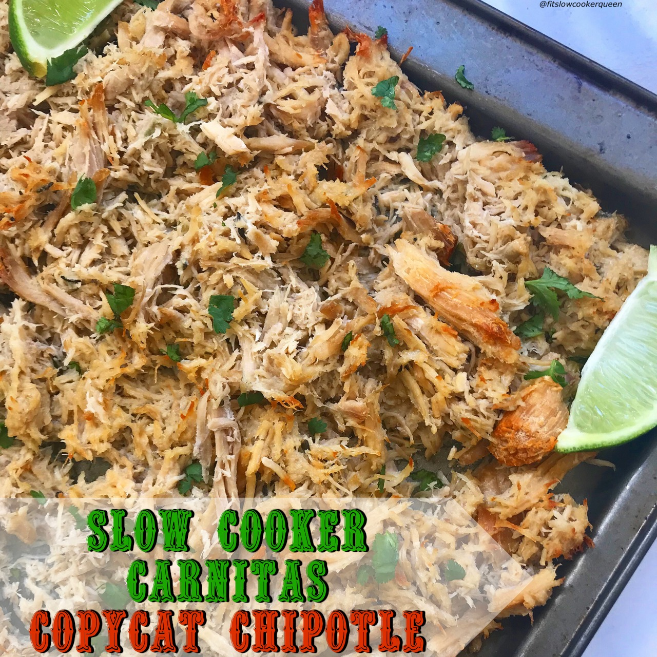 This is a slow cooker copycat of Chipotle's carnitas recipe. The end result is succulent shredded pork that's then broiled in the oven until crisp. Being low-carb, paleo, whole30, keto and more, you can use this carnitas meat in so many ways.