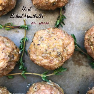 Herb Baked Meatballs (Paleo,Whole30,Low-Carb)