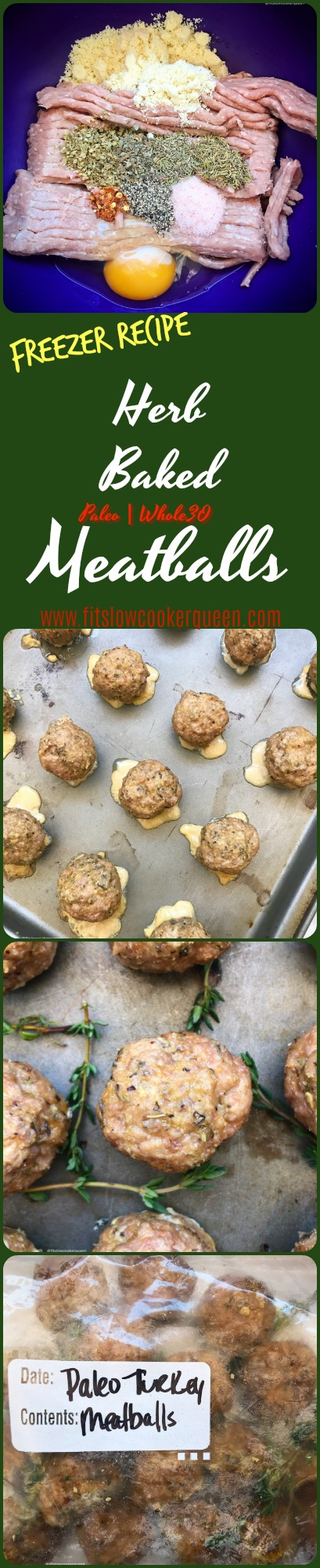 Done in less than 30 minutes, these herbed meatballs and both paleo and whole30. Use your preferred ground meat with these meatballs that can also be frozen for later use!