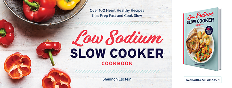 The Low-Sodium Slow Cooker Cookbook puts flavor back into your slow cooker with tasty and time-saving recipes.