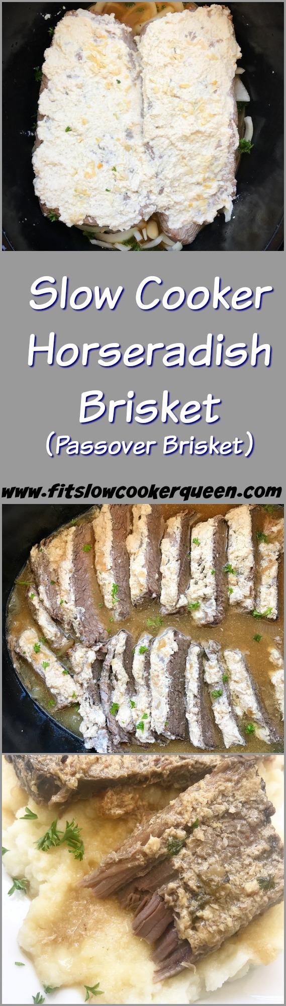 Slow Cooker Horseradish Brisket (Passover Brisket)