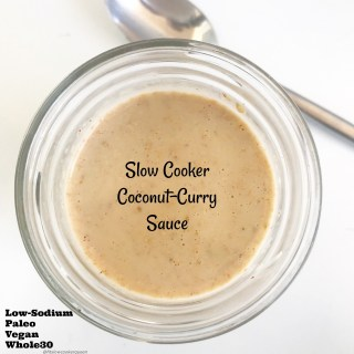 There are only 5 ingredients in the healthy and versatile coconut-curry sauce. Made in the slow cooker, in just a few hours you have a vegan, gluten-free, paleo, and whole30 sauce that you can use in so many different ways.