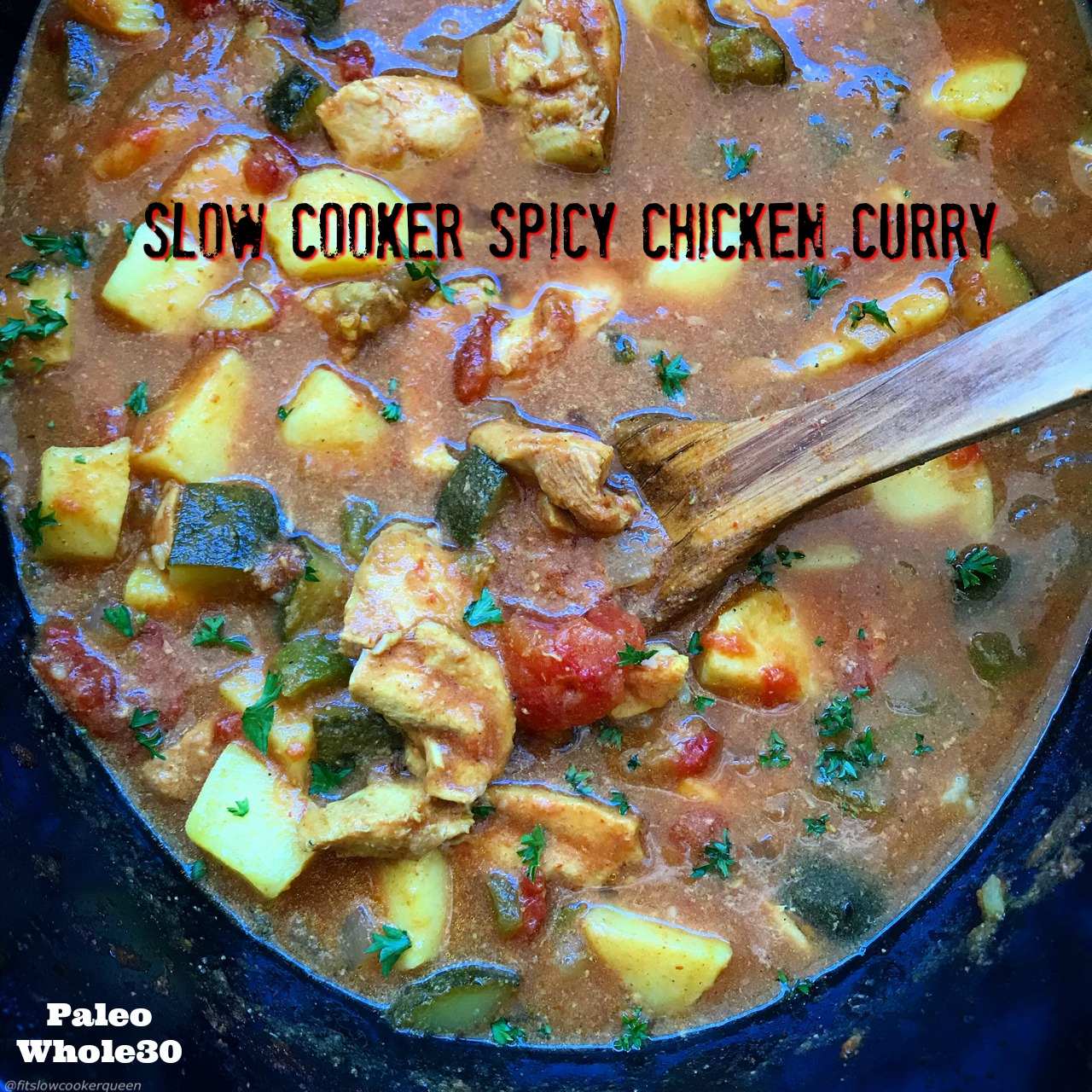 This Indian-flavored spicy chicken curry is not just an aromatic and flavorful dish, it's paleo, whole30 compliant, and super easy to make.Sit back and let your slow cooker create a delicious curry.
