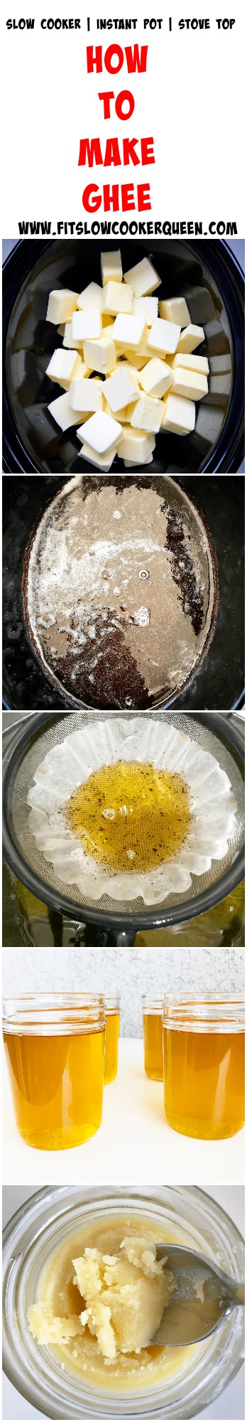 another pinterest pin for Slow Cooker_Instant Pot Ghee (Low-Carb, Paleo, Whole30)