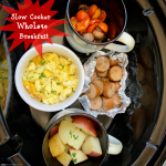 An entire whole30 compliant breakfast cooks together all at once in this easy slow cooker recipe. Wake up to a healthy whole30 breakfast to start your day!