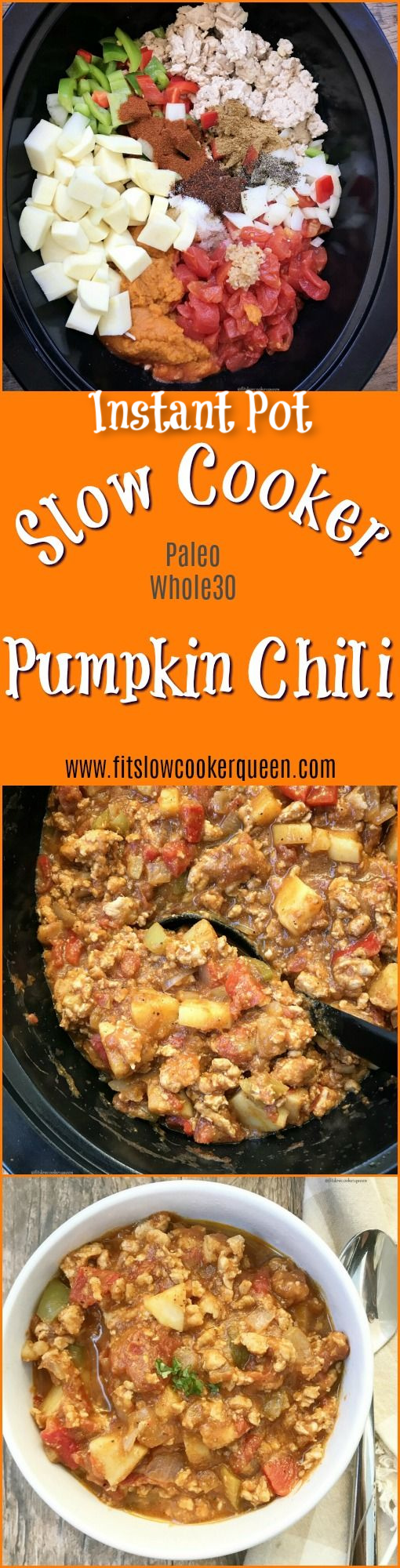 This pumpkin chili is not only hearty but healthy! Both paleo and whole30 compliant, you can make this in your slow cooker or Instant Pot.