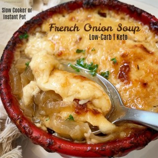 Slow Cooker/Instant Pot Low-Carb French Onion Soup (Keto)