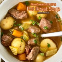 {VIDEO} Slow Cooker/Instant Pot Pot Roast Soup (Paleo/Whole30)