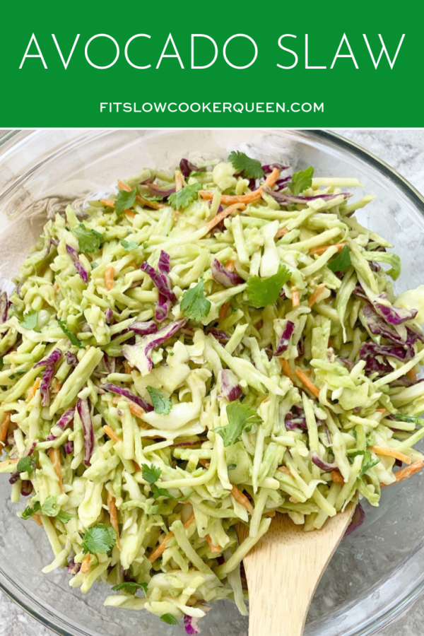 Avocado Slaw (Low-Carb, Paleo, Vegan, Whole30)