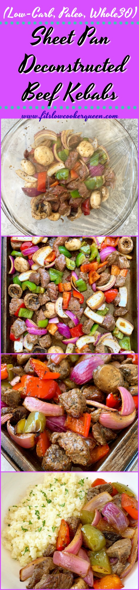 another pinterest pin for Sheet Pan Deconstructed Beef Kebabs (Low-Carb, Paleo, Whole30)