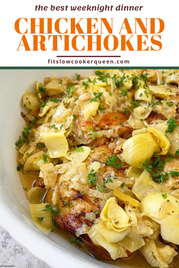 Slow Cooker/Instant Pot Chicken and Artichokes (Low-Carb, Paleo, Whole30)