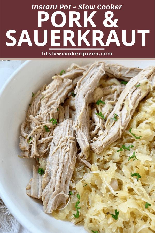 {VIDEO} Slow Cooker/Instant Pot Pork & Sauerkraut (Low-Carb, Paleo, Whole30)