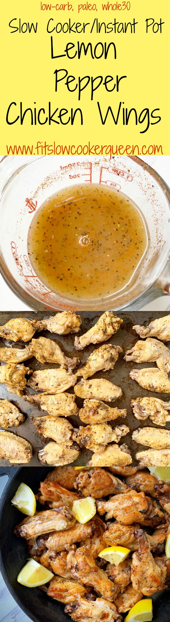another pinterest pin for {video} slow cooker_instant pot lemon pepper chicken wings