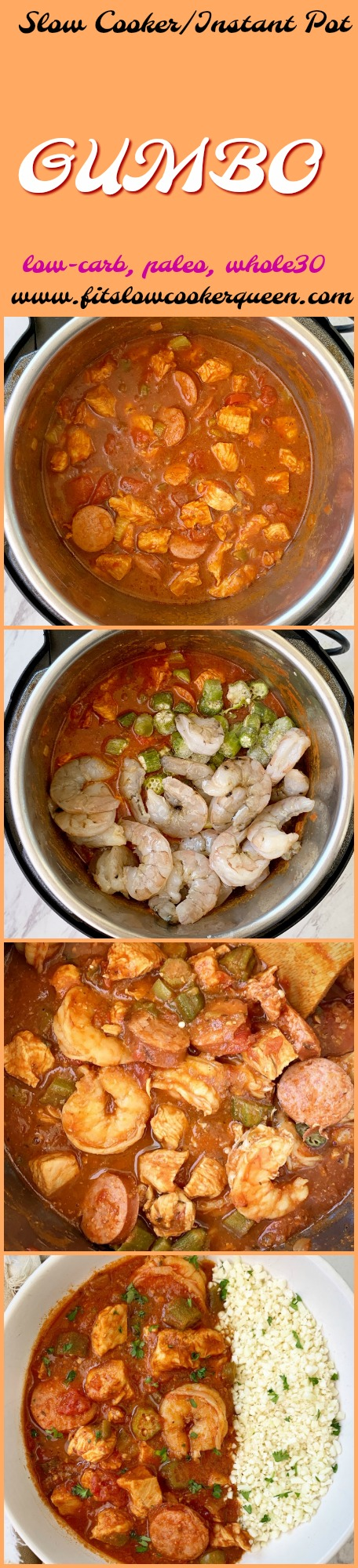 another pinterest pin for Slow Cooker_Instant Pot Gumbo (Low-Carb, Paleo, Whole30)