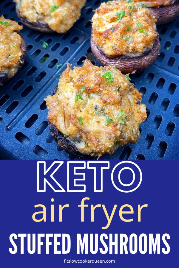 Air Fryer Crab Stuffed Mushrooms (Low-Carb, Keto, Paleo, Whole30)