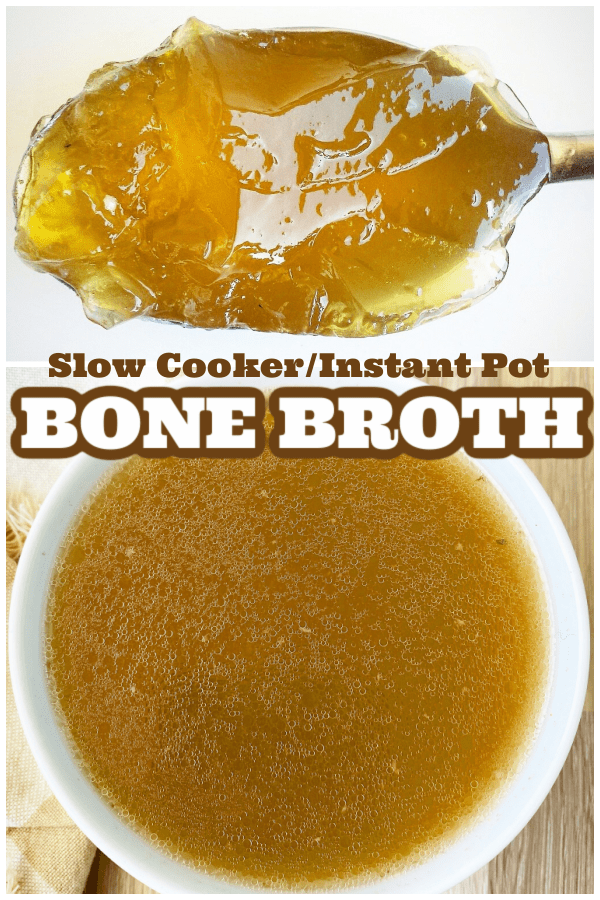 pinterest pin for slow cooker / instant pot bone broth