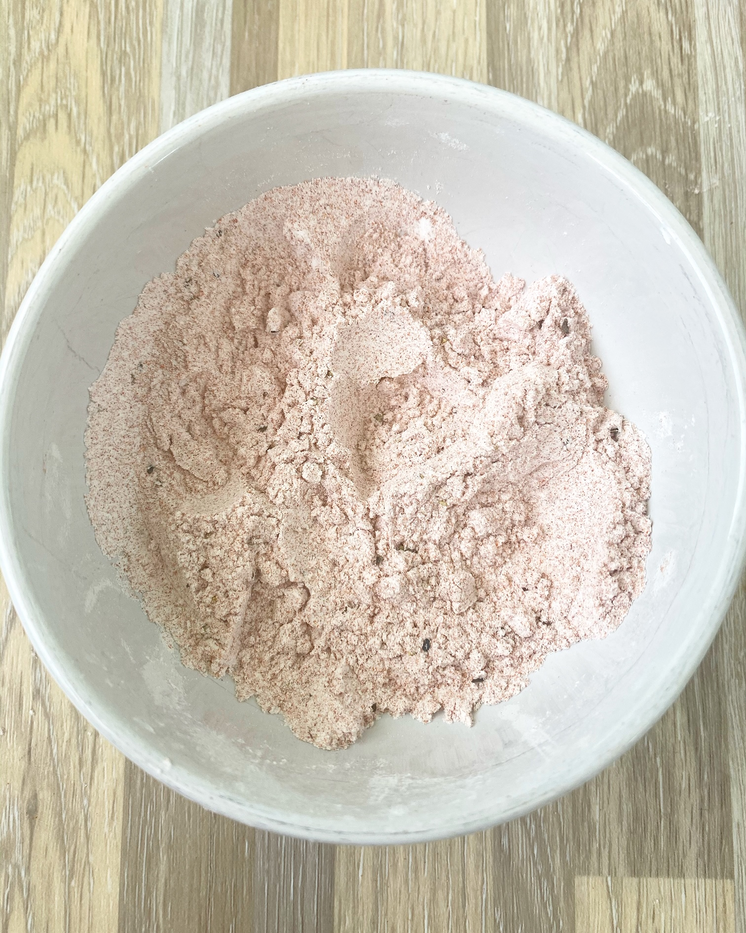 paprika flour in a white bowl