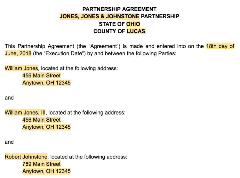 This partnership agreement is made this ______ day of ______. How To Create A Business Partnership Agreement Free Template