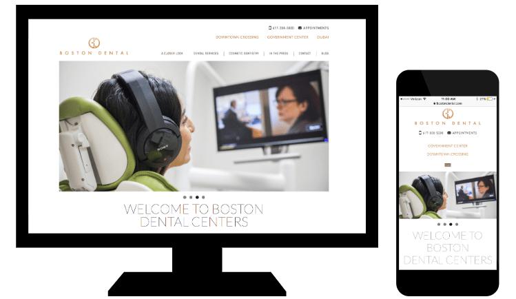 Esempio di responsive web design di Boston Dental
