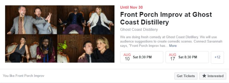 un esempio di annuncio di un evento su Facebook