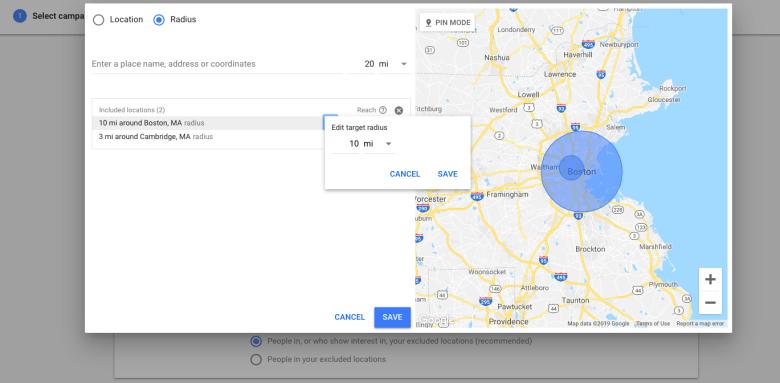 Escludi posizioni in Google Ads