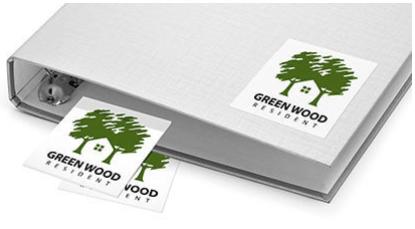 Adesivi per esempio di imballaggio del prodotto